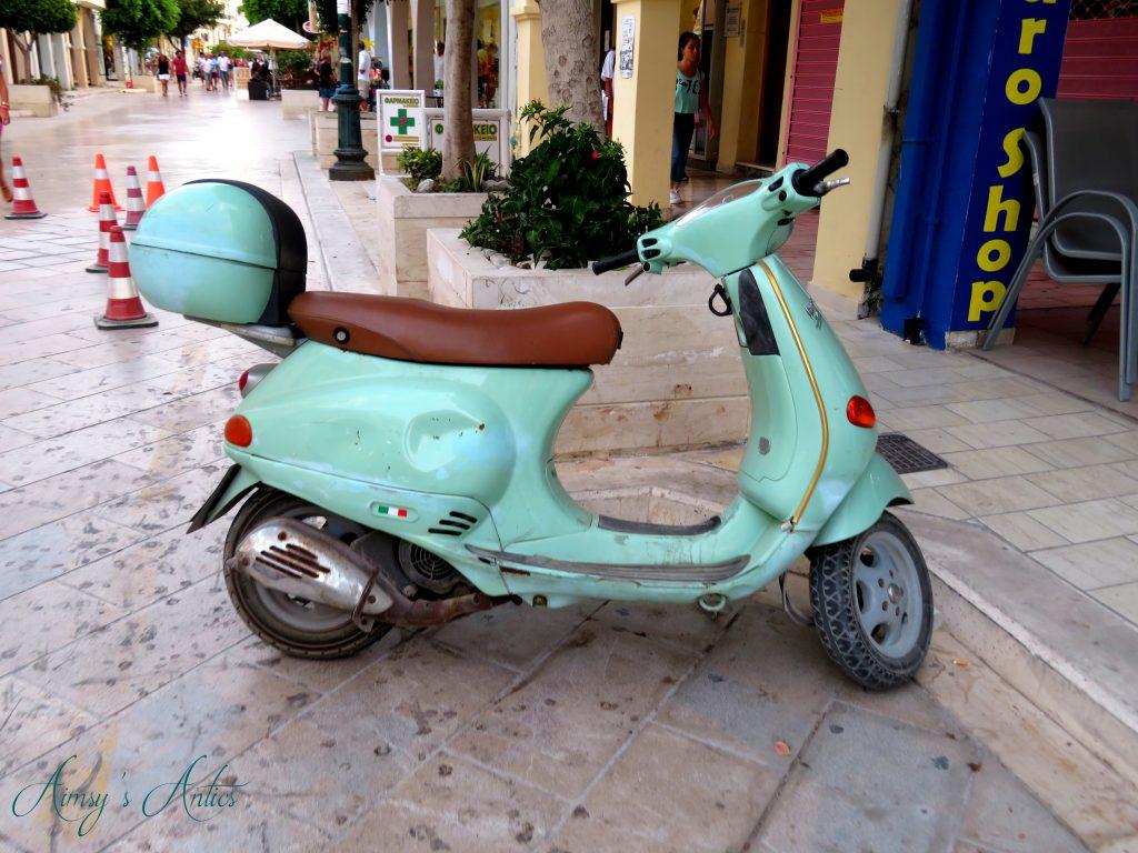 Scooter in Zakynthos Town