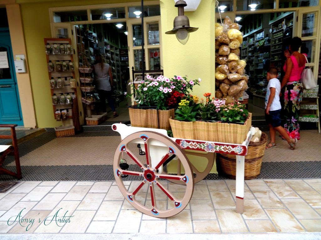 Flower cart in Zakynthos Town