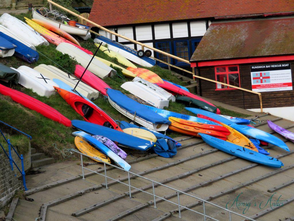 Boats at Runswick Bay