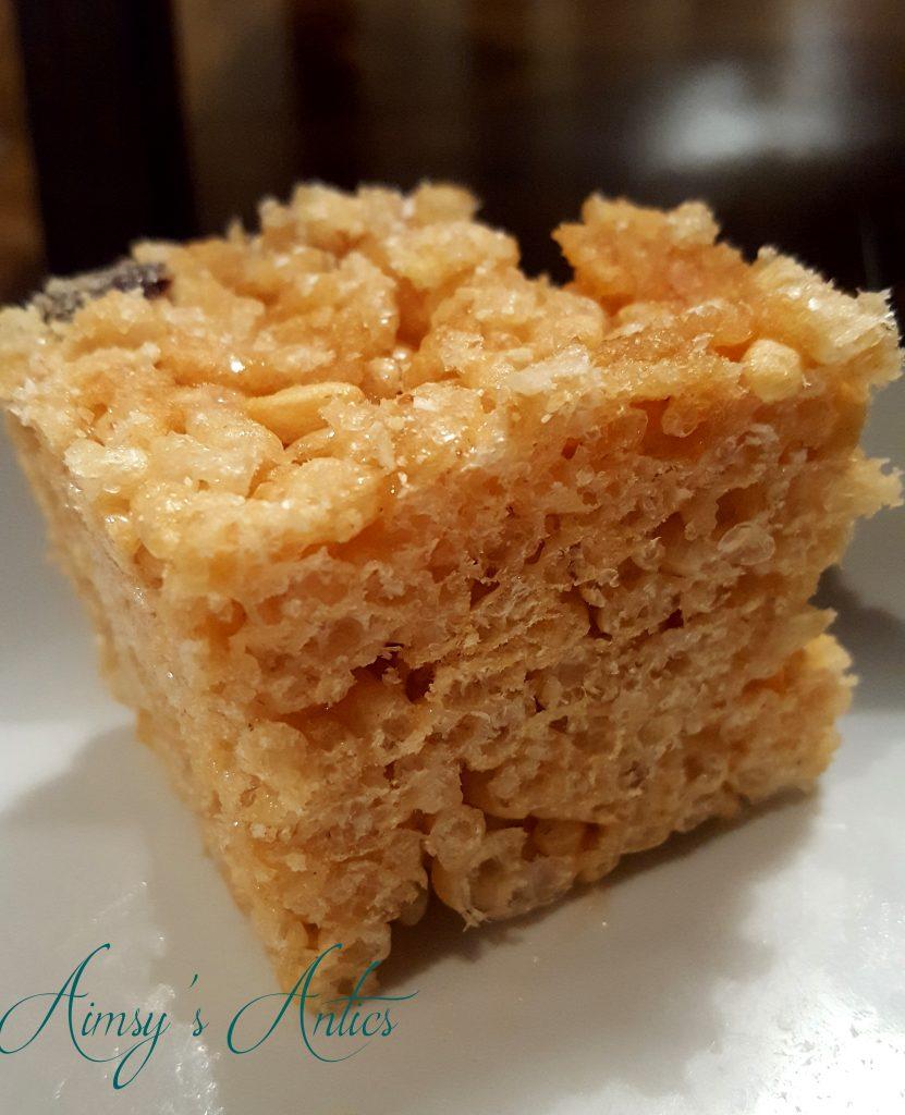 Rice crispies square