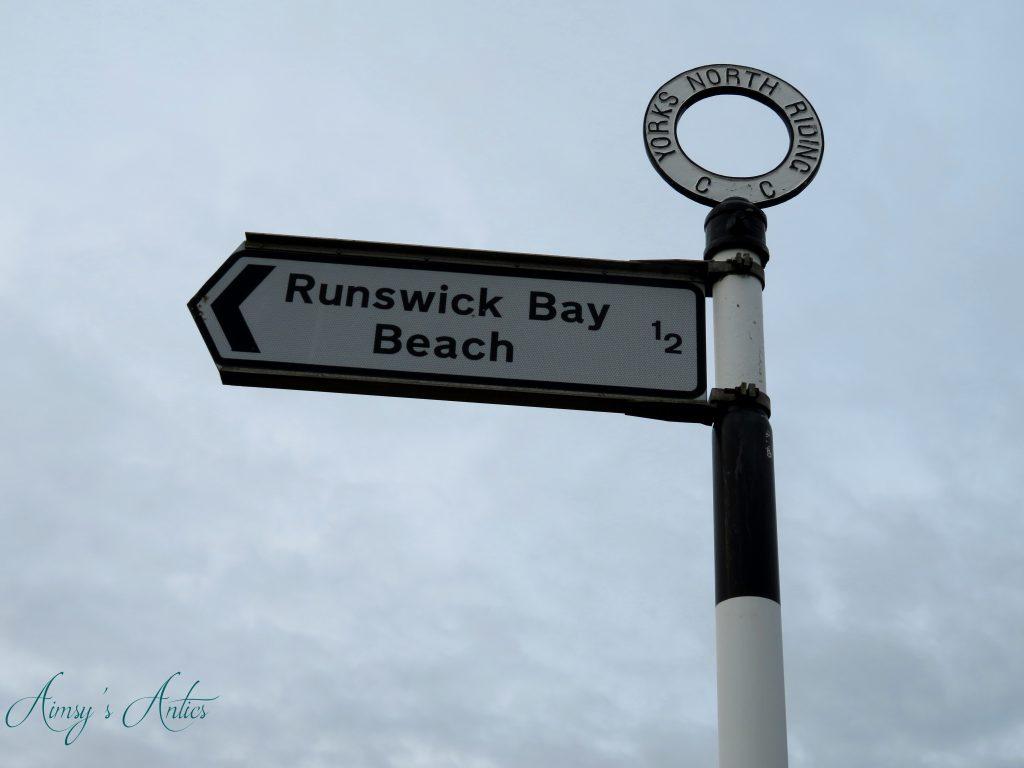 Runswick Bay sign