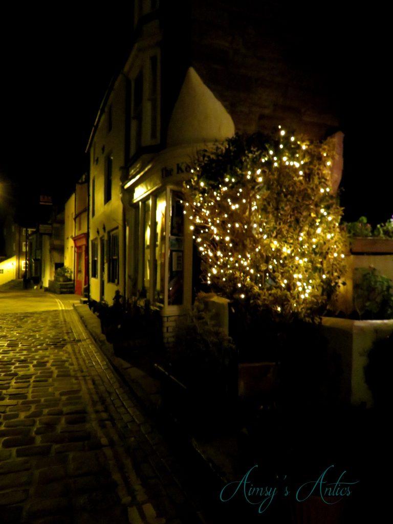Night scene, Staithes highstreet