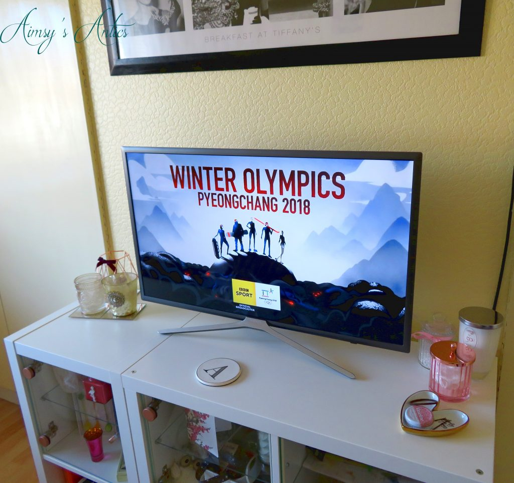 winter Olympics TV screen