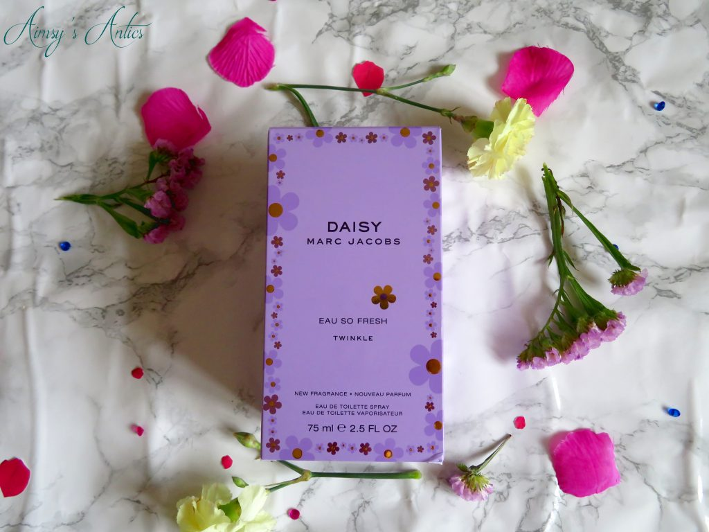 Marc Jacobs Daisy Twinkle perfume with flowers