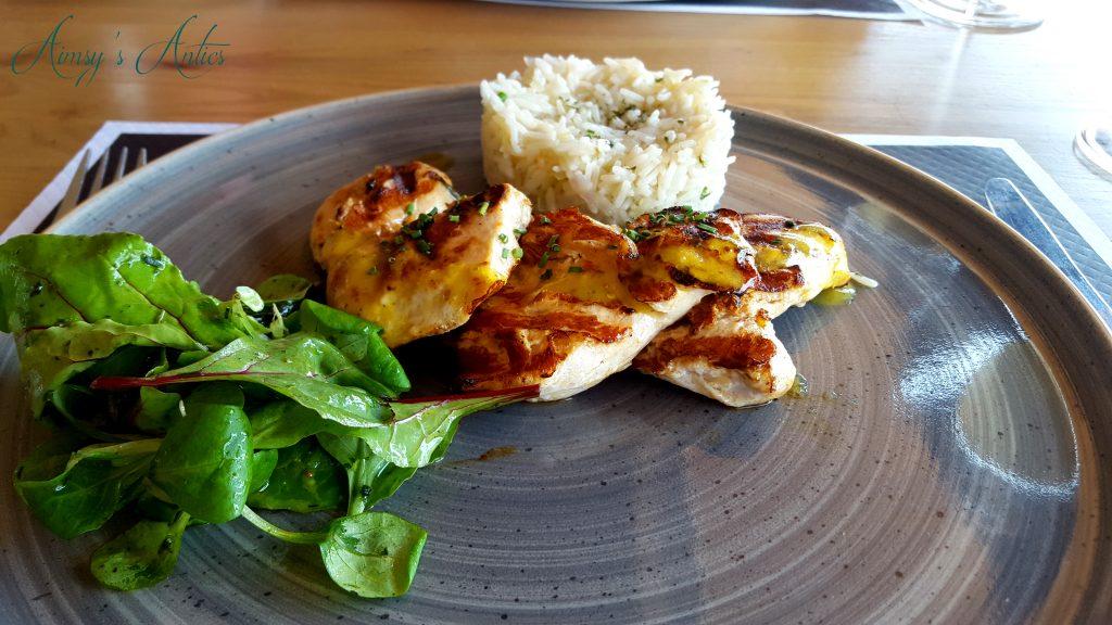 Meal at Platis Gialos Beach