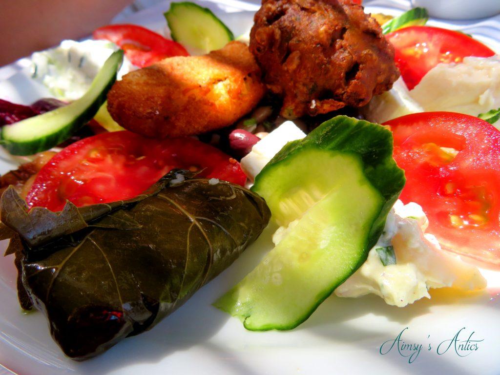 Greek food - mixed starter