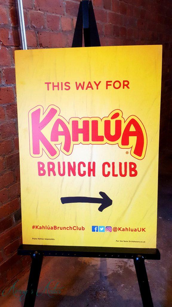 Kahlua Brunch club sign