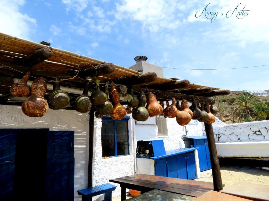 Taverna at Megali Ammos beach, Mykonos