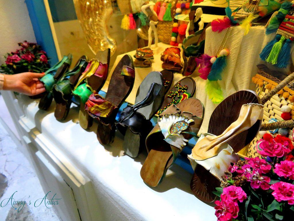 Mykonos shoe shop