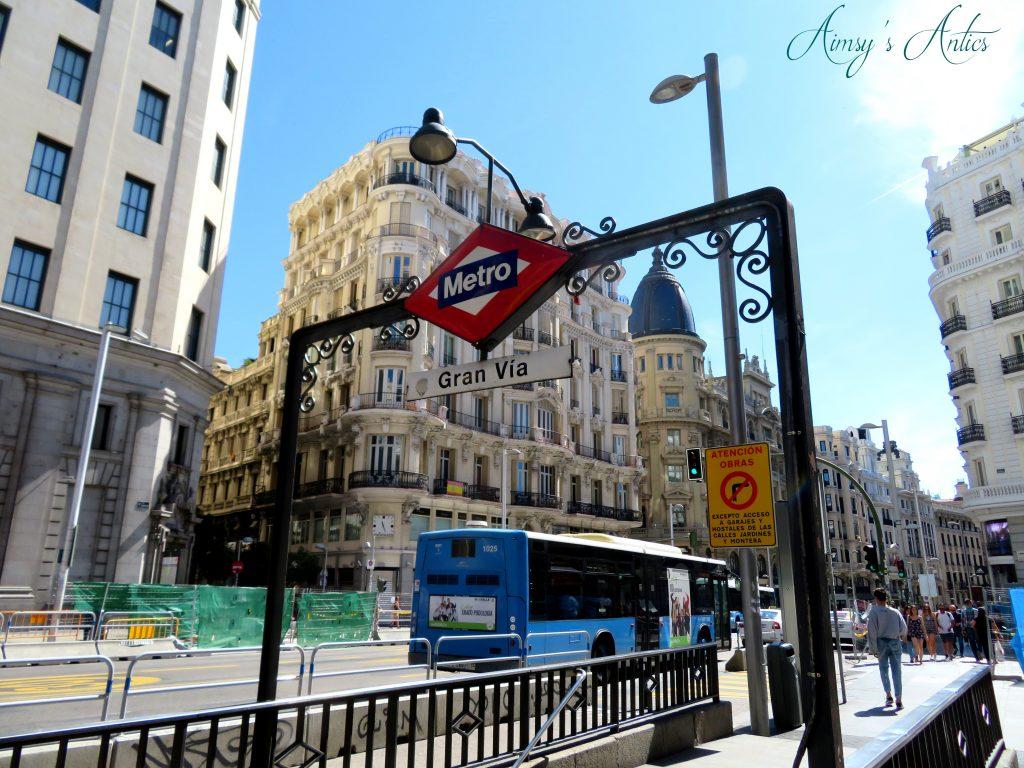 Madrid metro station sign - Gran Via