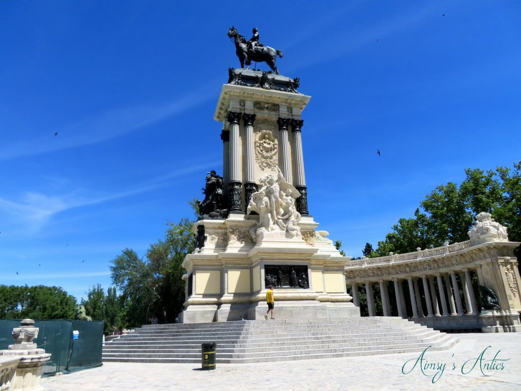 Monumento Alfonso XII - monument statue with man on a horse