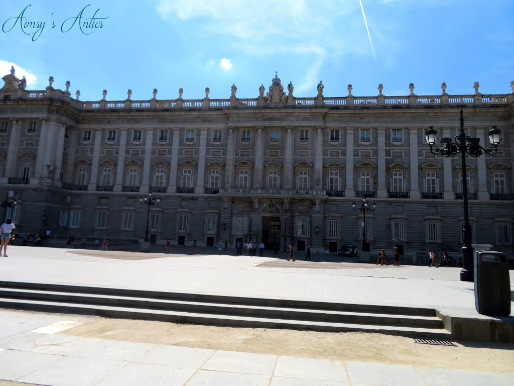 Outside of the Royal Palace of Madrid