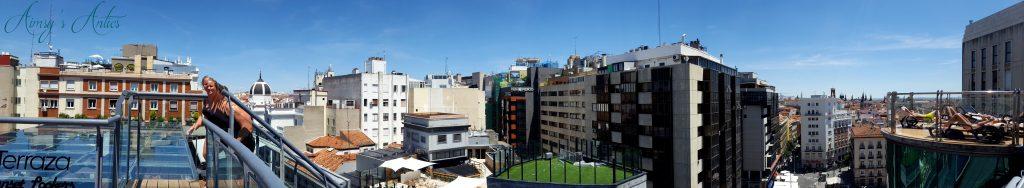 Panorama view of Hotel Santo Domingo Hotel, Madrid